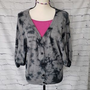 A.n.a. Tie dyed cardigan sweater